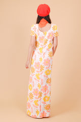 Vintage 1970's Somebody Groovy Maxi-Dress
