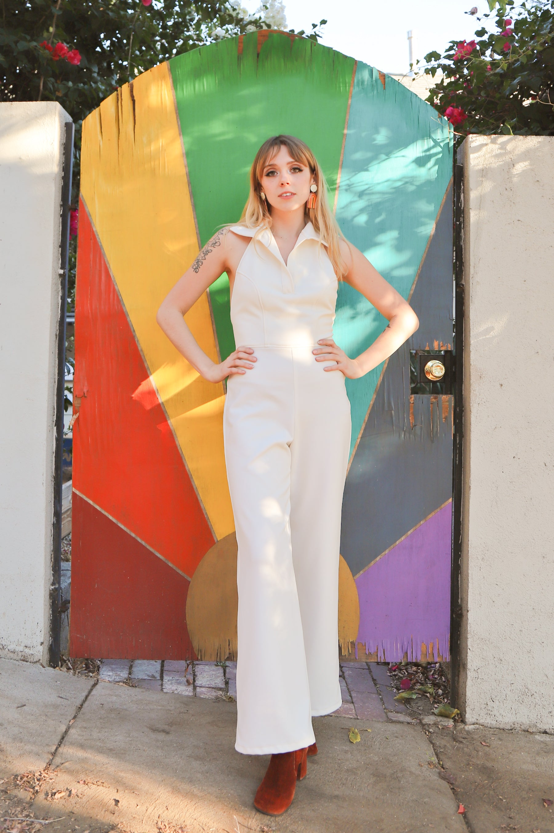 Cecilia Jumpsuit in Cream