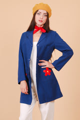 Vintage 1970's Daisy Jane Navy Jacket