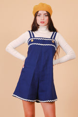 Vintage 1970's Sail On Navy Romper