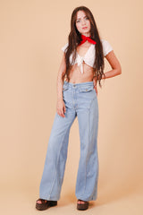 Vintage 1970's Blue Jean Baby Bell Bottoms