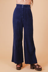 Vintage 1970's Midnight Navy Corduroy Bells