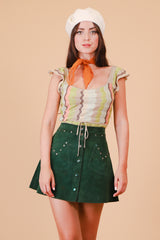 Vintage 1970's Faithfull Champagne Lurex Moss Top