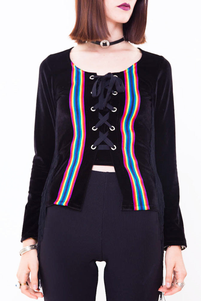 Rainbow Lady Love Top in Onyx