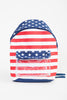 USA Flag Clear Pocket Backpack