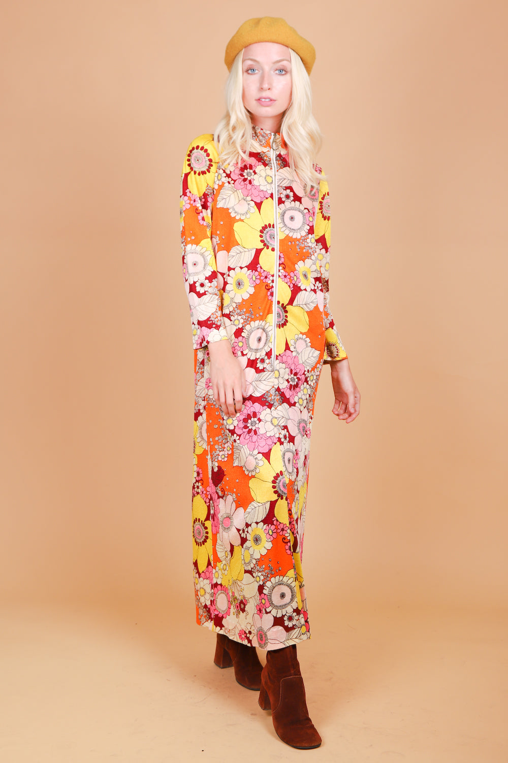 Vintage 1970's Sunshine of Your Love Maxi-Dress
