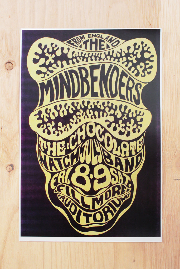 The Mindbenders - Fillmore Auditorium 1966 Poster
