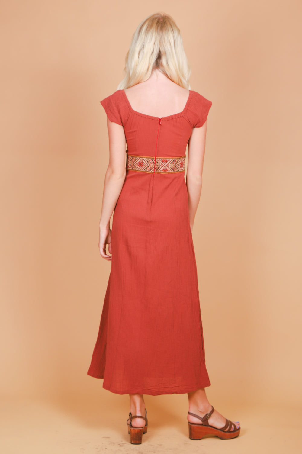 Vintage 1970's Heart of the Country Maxi-Dress