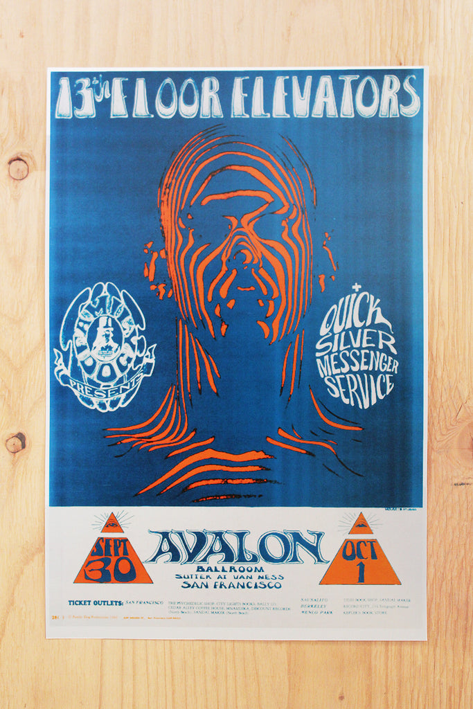 13th Floor Elevators - Avalon Ballroom 1966 Poster