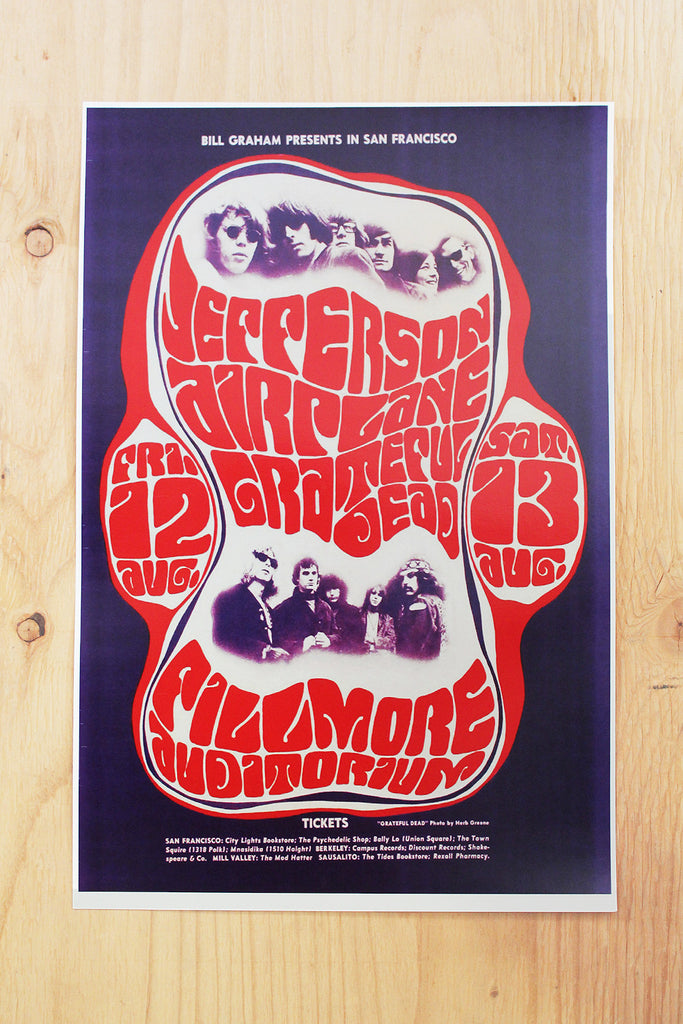 Jefferson Airplane - Fillmore Auditorium 1966 Poster