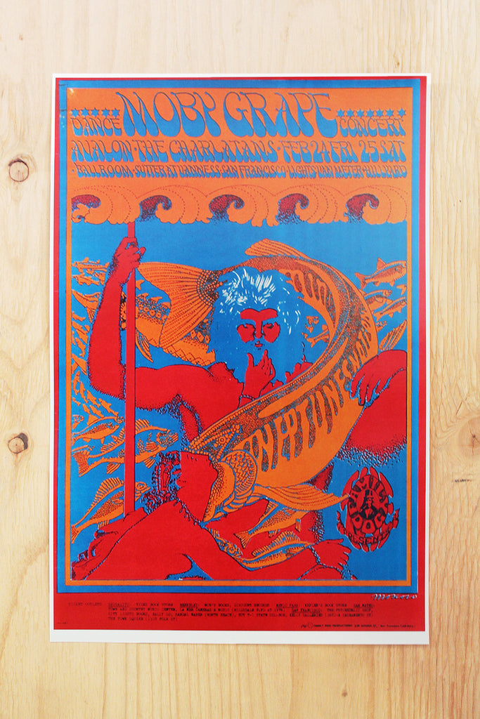 Moby Grape - Avalon Ballroom 1967 Poster