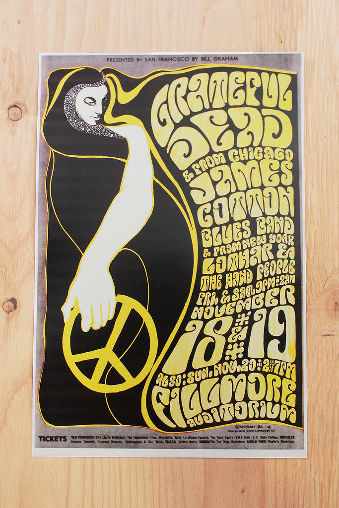 Grateful Dead - Fillmore Auditorium 1966 Poster