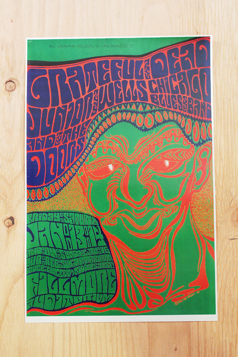 Grateful Dead  - Fillmore Auditorium 1967 Poster