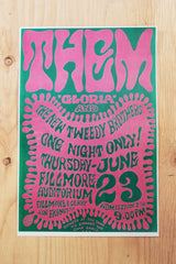 Them  - Fillmore Auditorium 1966 Poster