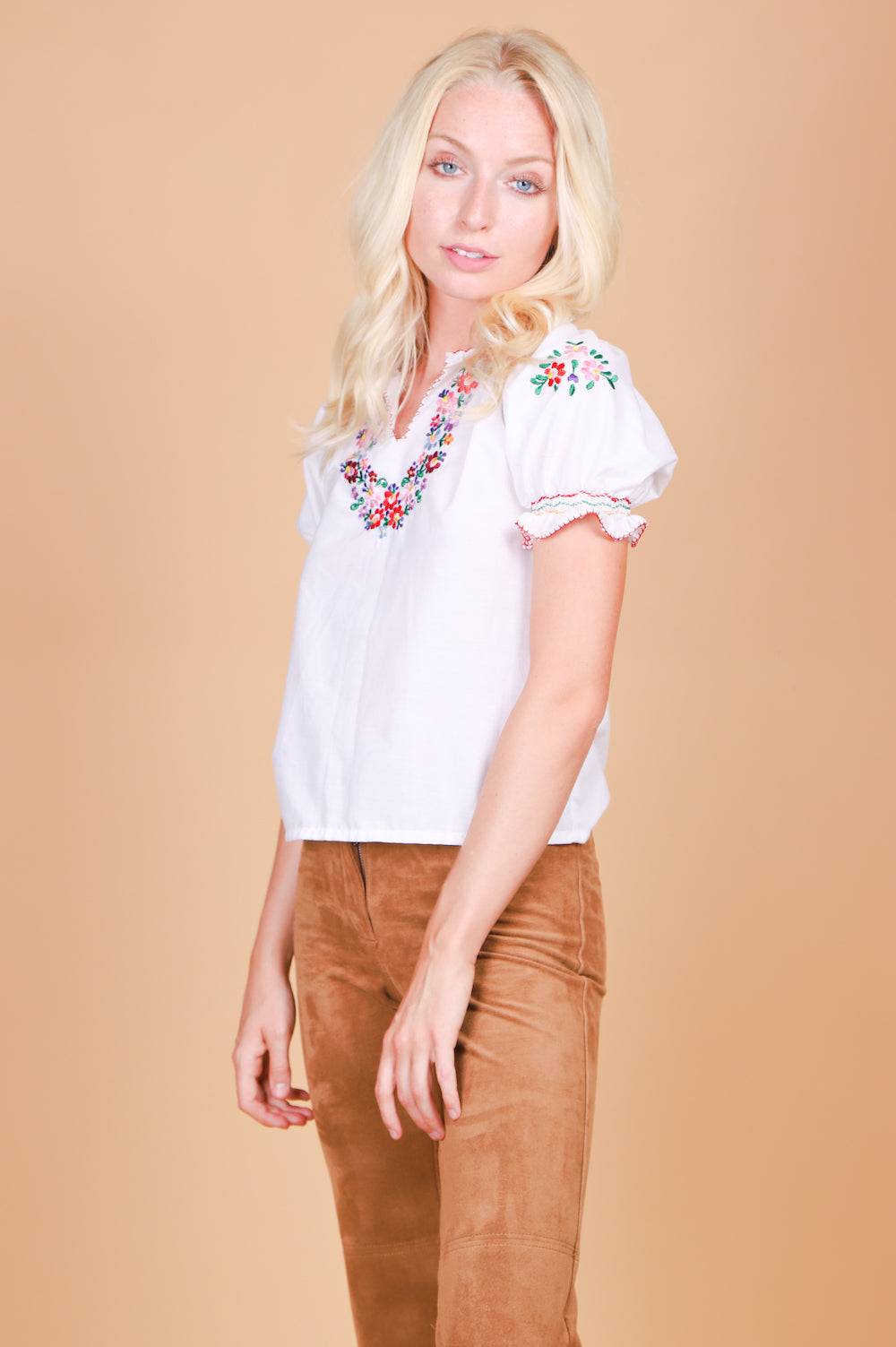 Vintage 1970's Penny Lane Embroidered Blouse