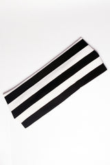 Black and White Stripes Headband