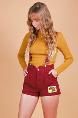 Vintage 1970's Have a Nice Day Suspender Overalls