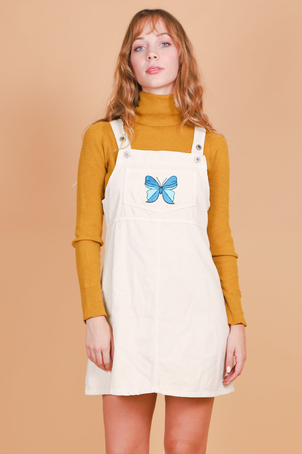 Vintage Butterfly Skies Pinafore Mini-Dress