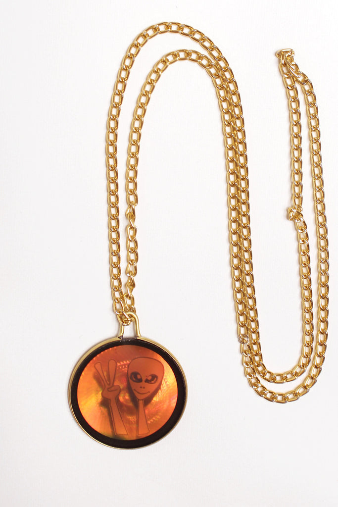 We Come In Peace Hologram Necklace