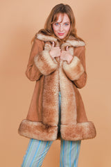 Vintage 1970's Bold as Love Suede Fur Coat