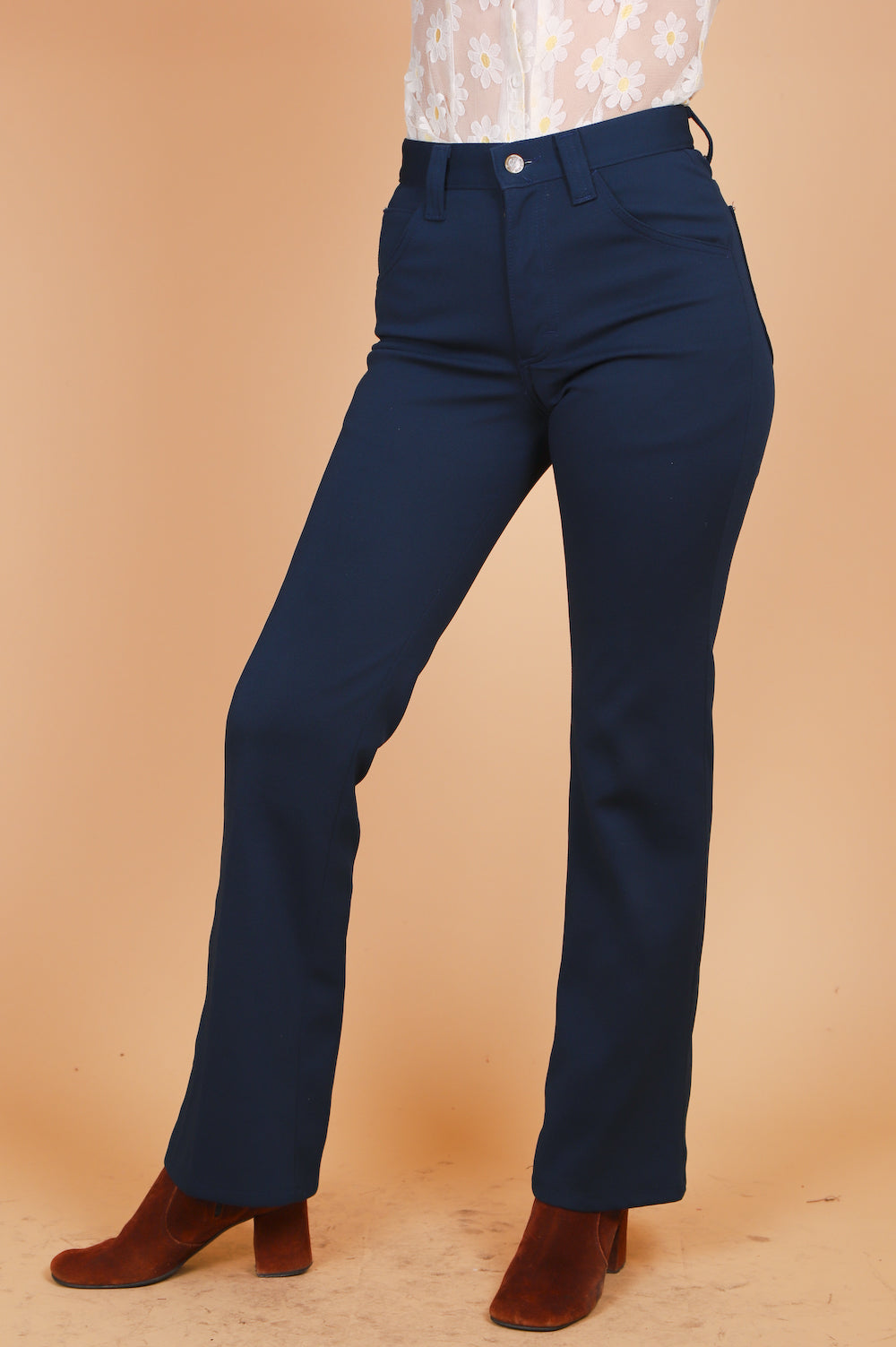 Vintage 1960's Behind Blue Eyes Navy Pants