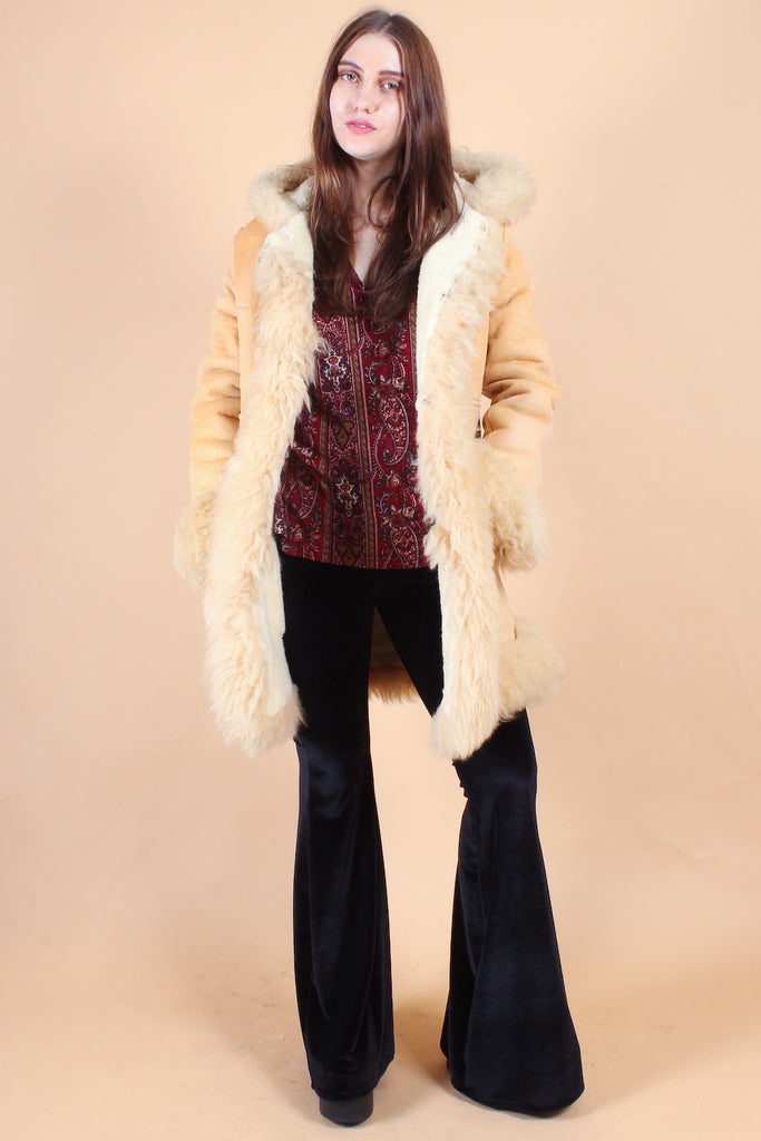 Vintage The Wind Cries Mary Sheepskin Fur Coat – Miracle Eye