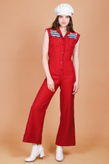 Vintage 1970's Heart of the Country Jumpsuit