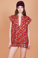 Vintage 1970's Marrakesh Express Embroidered Mini-Dress