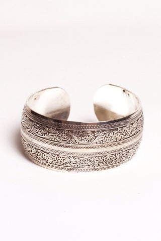 Leaving India Elephant Brass Cuff