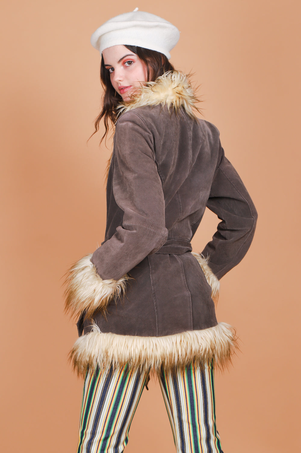 Vintage 1970's Moondance Suede Fur Coat