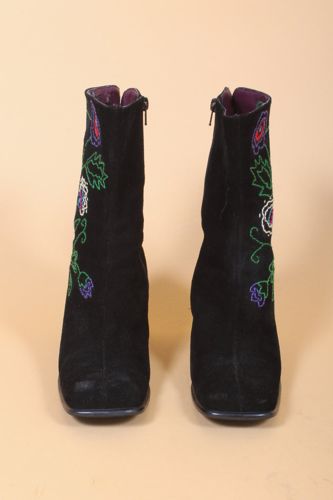 Lucy in the Sky Embroidered Suede Boots