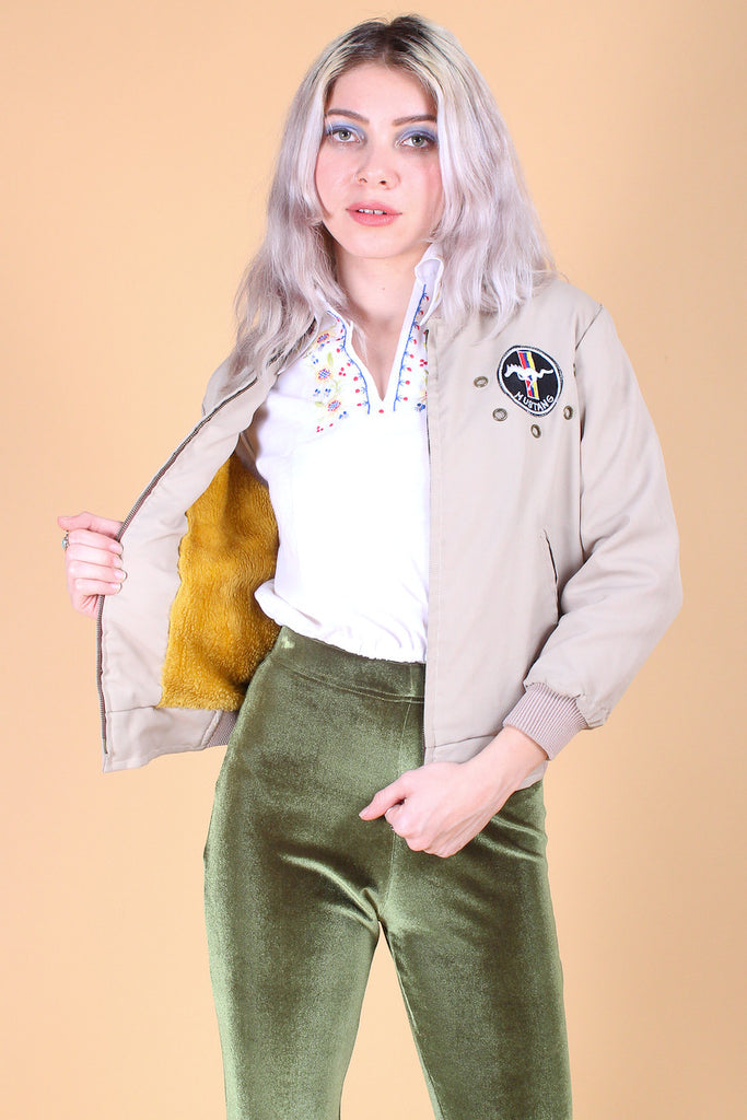 Vintage 1970's Mustang Bomber Jacket