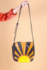 Vintage Hand-Painted Rising Sun Leather Bag