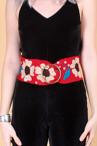 Pattie Boyd Belt in Cherry