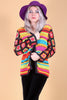 Vintage She's A Rainbow Crochet Sweater