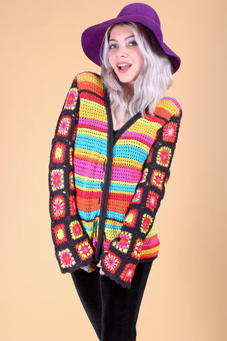 Vintage Make Love Not War Knit Sweater