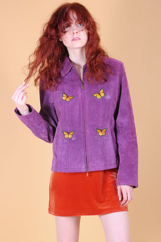 Vintage 1960's Crimson and Clover Embroidered Shearling Vest