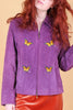 Vintage Butterfly Family Plum Suede Jacket