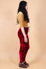 Cherry Velvet Lace-Up Leggings
