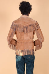 Vintage 1970's Big Noise from Speonk Suede Fringe Jacket