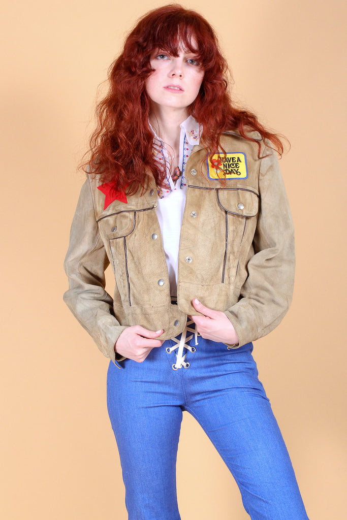 Vintage Sweetheart of the Rodeo Suede Jacket