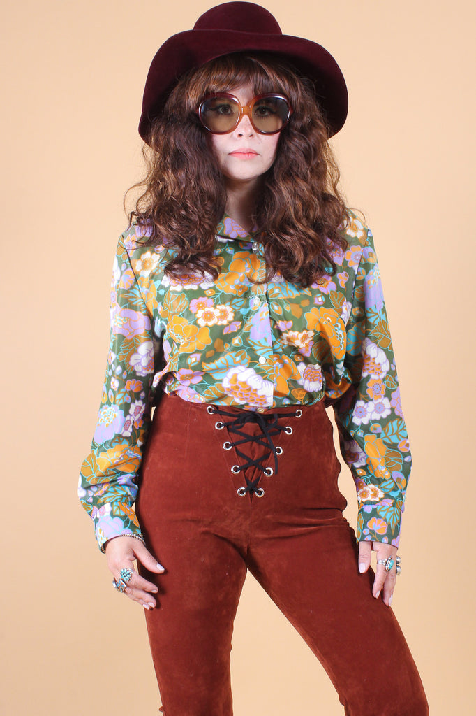 Vintage 1960's Down the Rabbit Hole Top