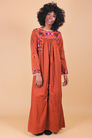 Vintage Season of the Witch Velvet Maxi Dress