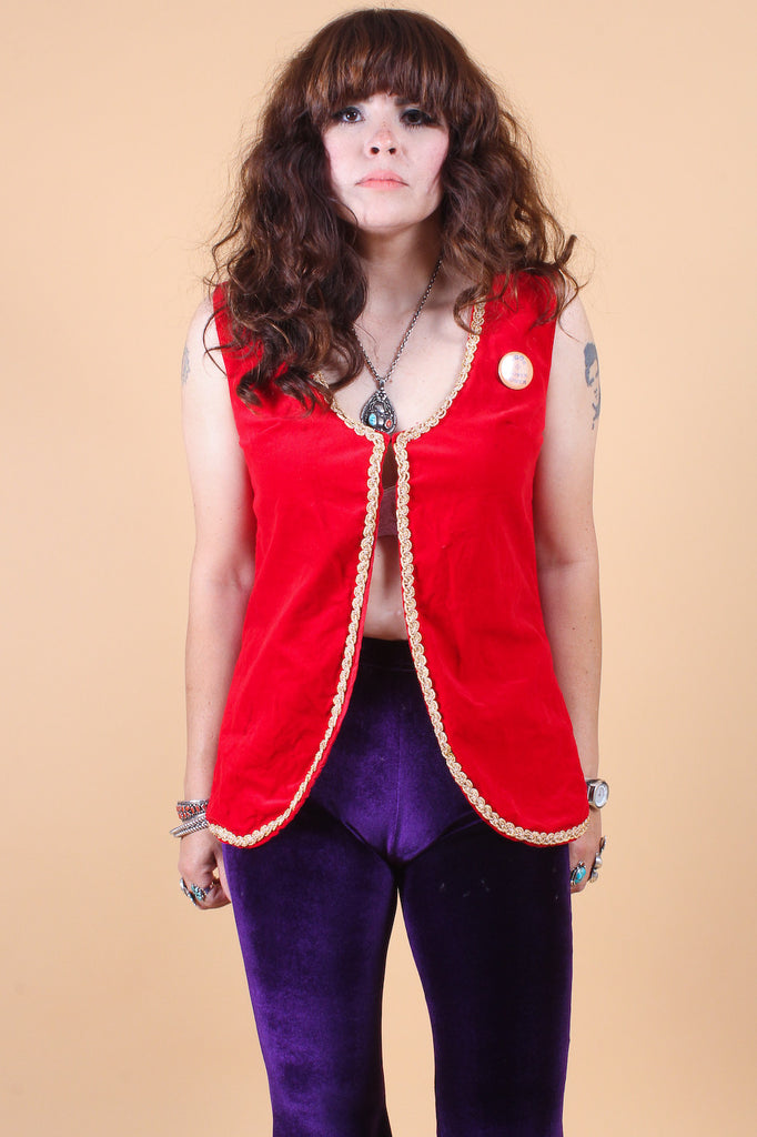 Vintage Magical Flower Power Pin Vest