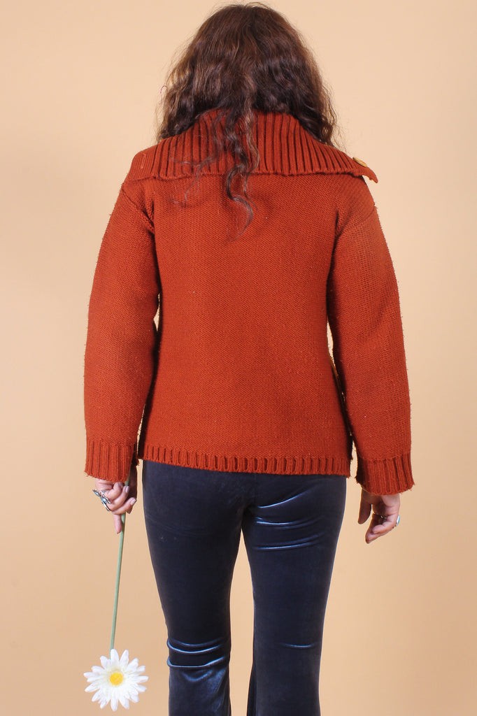 Vintage 1970's Eleanor Rigby Rust Sweater