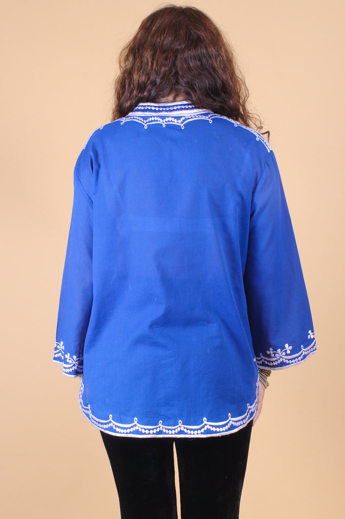 Vintage 1970's Swinging Blues Top