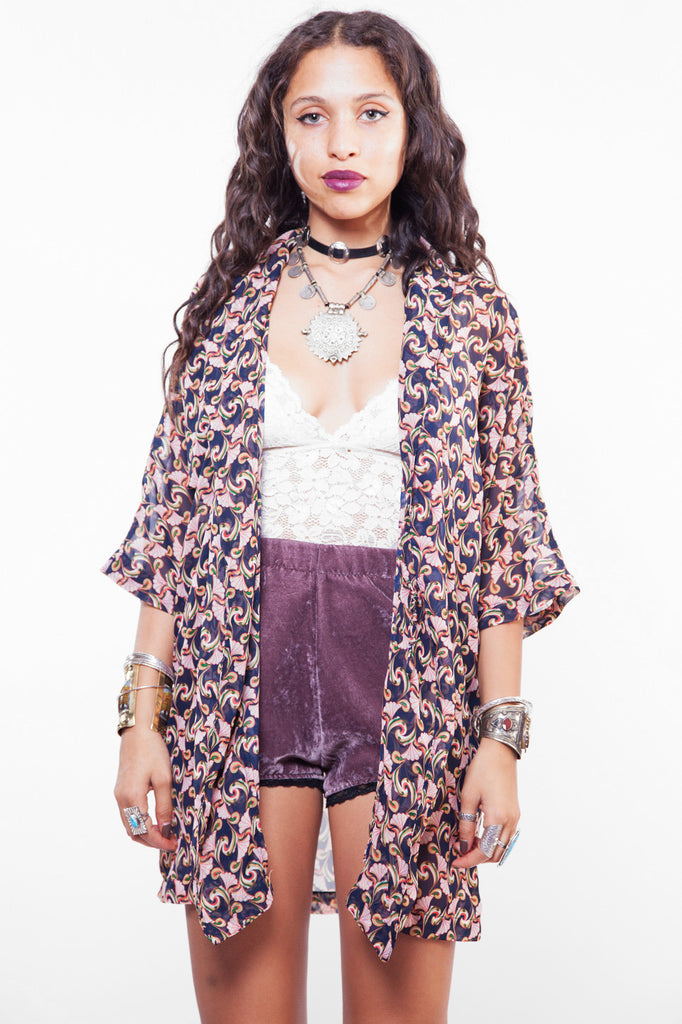 Vintage Psychedelic Wonderland Sheer Jacket