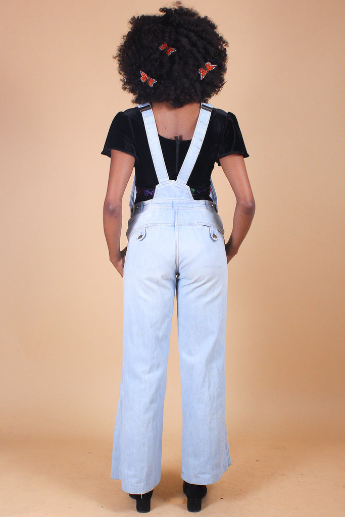Vintage 1970's Joni Denim Bell-Bottom Overalls