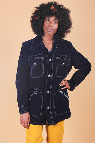 Vintage 70s Villanova Junction Vegan Faux-Fur Jacket