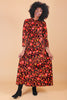 Vintage 1970's Wildflowers Velvet Maxi Dress
